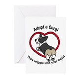 Funny Adopt a corgi Greeting Cards (Pk of 20)