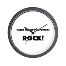 Water Quality Inspectors ROCK Wall Clock