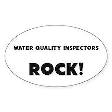 Water Quality Inspectors ROCK Oval Sticker