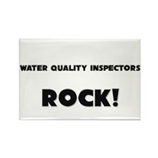 Water Quality Inspectors ROCK Rectangle Magnet (10
