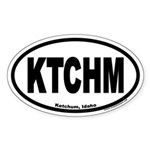 Ketchum Idaho KTCHM Euro Oval Sticker
