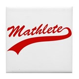 Mathlete Tile Coaster