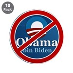 "No BO bin Biden 3.5"" Button (10 pack)"