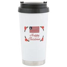 Liberia Happy Christmas Ceramic Travel Mug