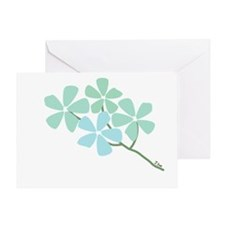Winter Flower Blossom Greeting Card