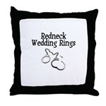 Redneck Wedding Rings Throw Pillow