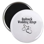 Redneck Wedding Rings Magnet
