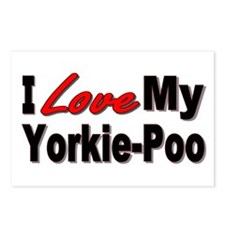 I Love My Yorkie-Poo Postcards (Package of 8)