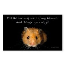 The Hamster Rectangle Decal