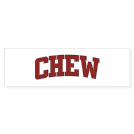 CHEW Design Bumper Sticker
