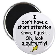 "Attention Span Butterfly 2.25"" Magnet (100 pack)"