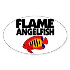 Flame Angelfish Oval Decal
