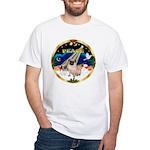 XmasSunrise/Pug White T-Shirt