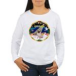 XmasSunrise/Pug Women's Long Sleeve T-Shirt