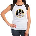 Night Flight/ Pug Women's Cap Sleeve T-Shirt