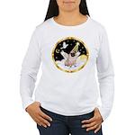 Night Flight/ Pug Women's Long Sleeve T-Shirt