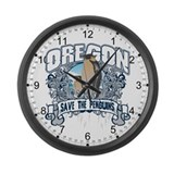 Save the Penguin Oregon Large Wall Clock
