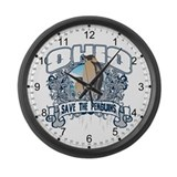 Save the Penguin Ohio Large Wall Clock