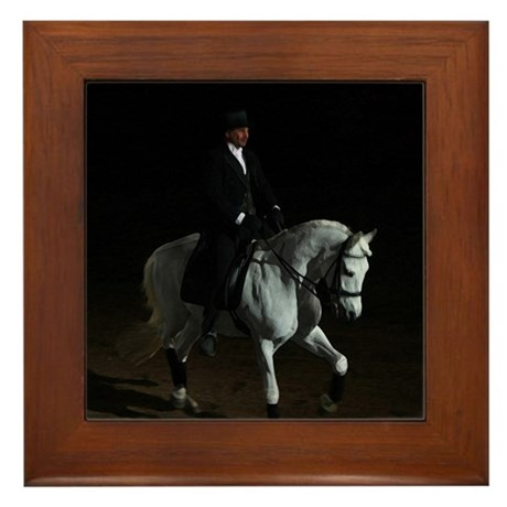 Dressage Spotlight Framed Tile