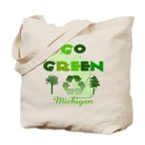 Go Green Michigan Reusable Tote Bag