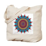 Living Turquoise Magic Circle Tote Bag