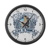 Save the Penguin North Carolina Large Wall Clock