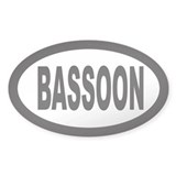 Bassoon Oval Decal