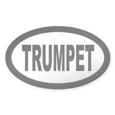 Trumpet Oval Decal