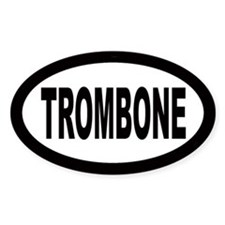 Trombone Oval Decal