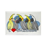 Cockatiel Colors Rectangle Magnet