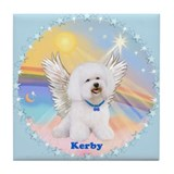 Bichon Frise Kerby Angel Tile Coaster