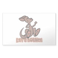 Let's Bounce Kangaroo Rectangle Sticker 50 pk)
