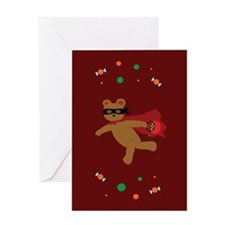 Masked Bear Greeting Card