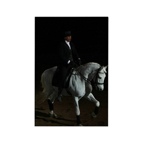 Dressage Spotlight Rectangle Magnet