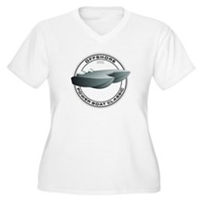 OFFSHORE POWERBOAT GRAPHIC WOMENS PLUS SIZE V