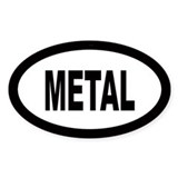 Metal Oval Bumper Stickers