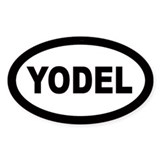 Yodel Oval Decal