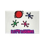 Let's Bounce Jacks (Jax) Rectangle Magnet (100 pac