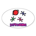 Let's Bounce Jacks (Jax) Oval Sticker