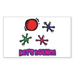 Let's Bounce Jacks (Jax) Rectangle Sticker