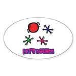 Let's Bounce Jacks (Jax) Oval Sticker (10 pk)