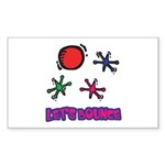 Let's Bounce Jacks (Jax) Rectangle Sticker 50 pk)