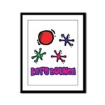 Let's Bounce Jacks (Jax) Framed Panel Print