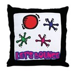 Let's Bounce Jacks (Jax) Throw Pillow