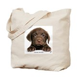 Chocolate Labrador Retriever puppy 9Y270D-050 Tote