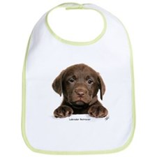 Chocolate Labrador Retriever puppy 9Y270D-050 Bib