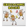 Geocaching Rocks Tile Coaster