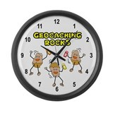 Geocaching Rocks Large Wall Clock