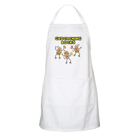 Geocaching Rocks BBQ Apron