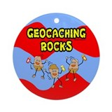 Geocaching Rocks Ornament (Round)